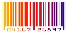 Barevný či duhový čárový kód s čísly